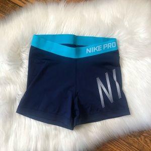 Nike Pro Women's Blue Athletic Shorts
